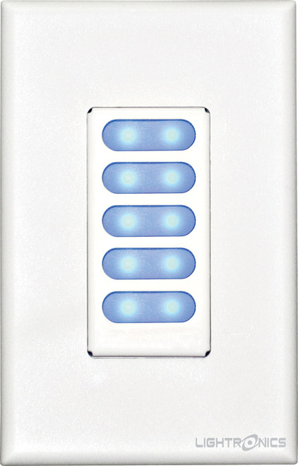 Unity Architectural Lighting Control - Remote Stations AK1005  5 Scene Push Button
