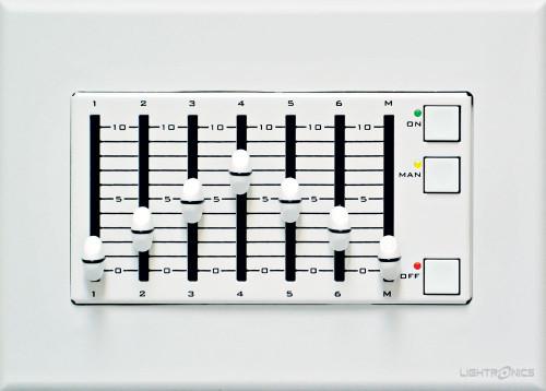 Lightronics AF3107 Architectural Remote Station 6 Scene Fader Station