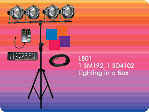Lightronics LB01 Lighting in a Box includes ShowPro SM192 Console and ShowPro SD4102 Dimmer