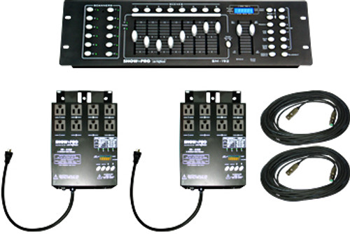 Lightronics SB02 Includes 1 ShowPro SM192 Console and 2 ShowPro SD4102 Dimmers