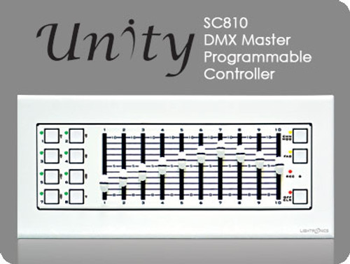 Lightronics SC810D DMX Master Programmable Controller 18 Scene DMX-512 Storage & Playback, 8 Scene Buttons & 10 Scene Sliders (Desktop)