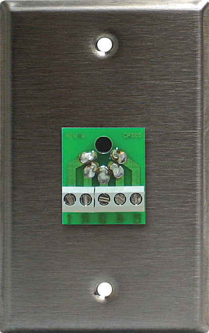 Lightronics CP502 Single Gang Wall Plate with 5 Pin Female DMX Connector