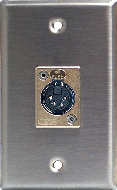 Lightronics CP402 Single Gang Wall Plate with 4 Pin FeMale DMX Connector