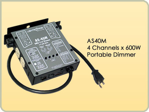 Lightronics AS40M Portable Dimmer 4 Channels, 600W per Channel
