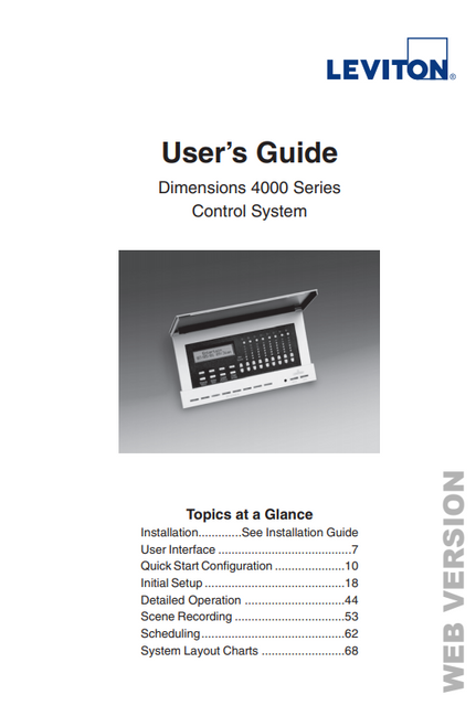 Leviton Dimensions User Guide