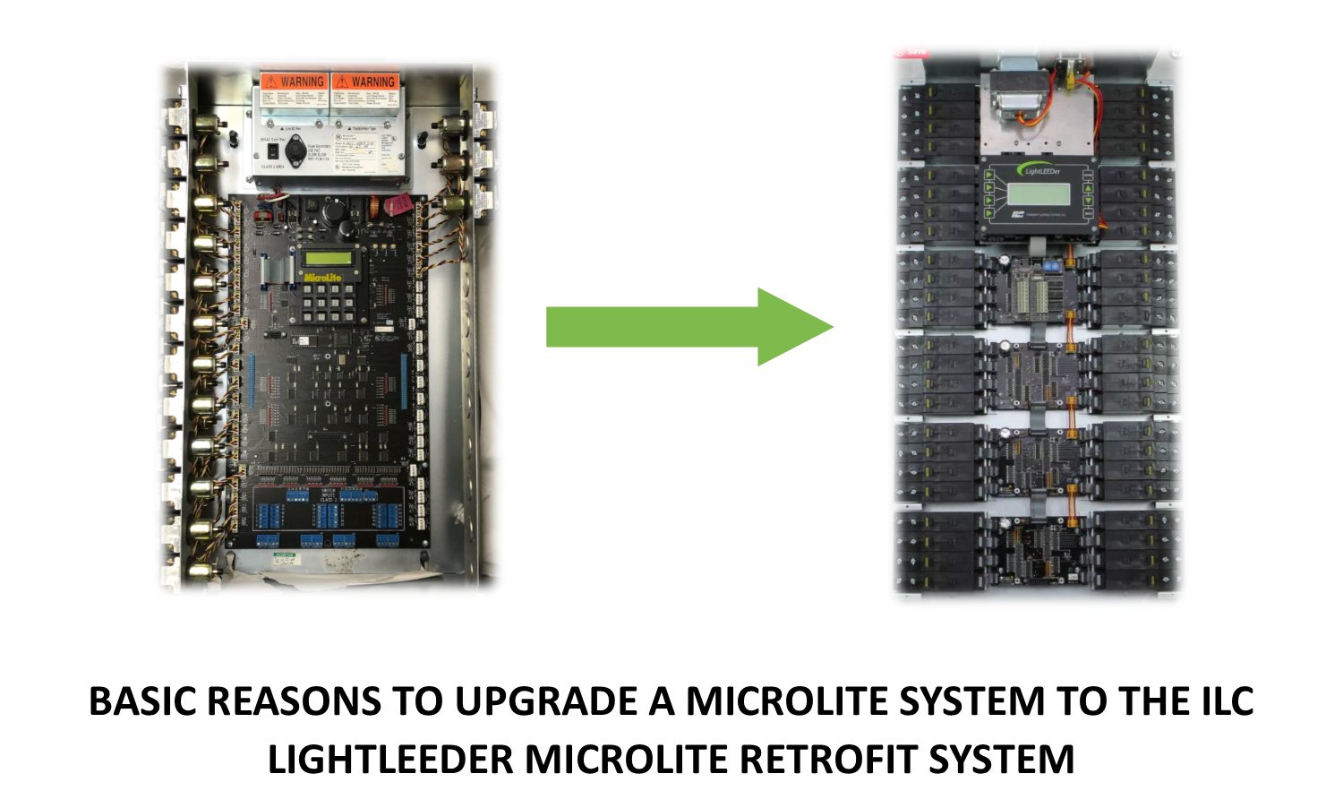 Basic reasons to upgrade a Microlite System to the ILC LightLEEDer Microlite Retrofit System