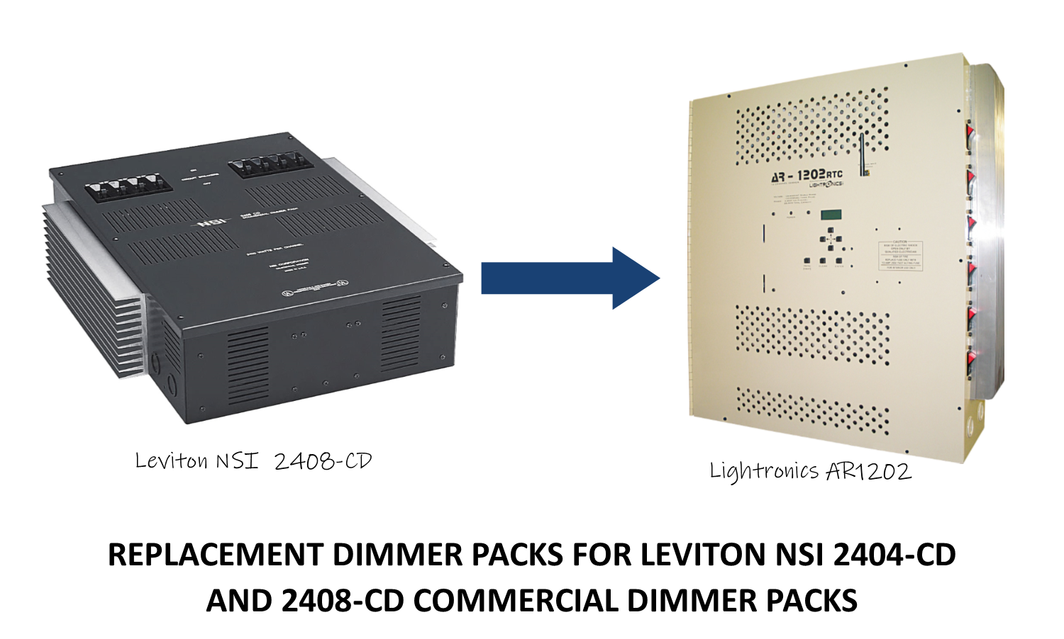 REPLACEMENT DIMMER PACKS FOR LEVITON NSI 2404-CD AND 2408-CD COMMERCIAL DIMMER PACKS