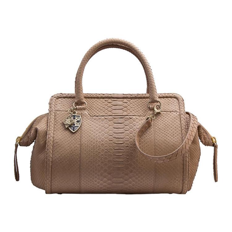 Armenta Handheld Bag in Taupe Python