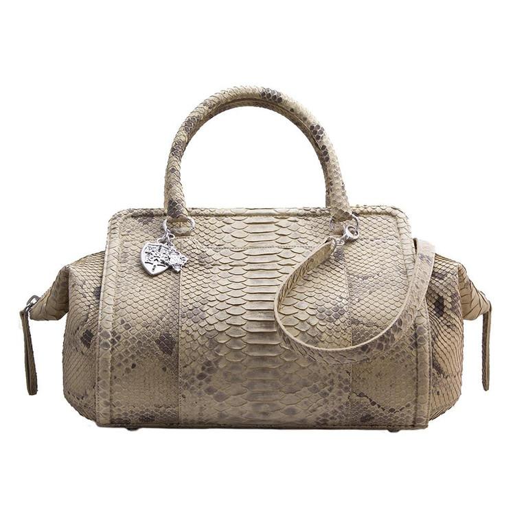 *PRE-ORDER* Armenta Handheld Bag in Light Taupe Python