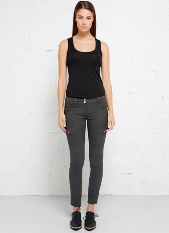 Anatomie Kate Skinny Cargo Pants in Grey