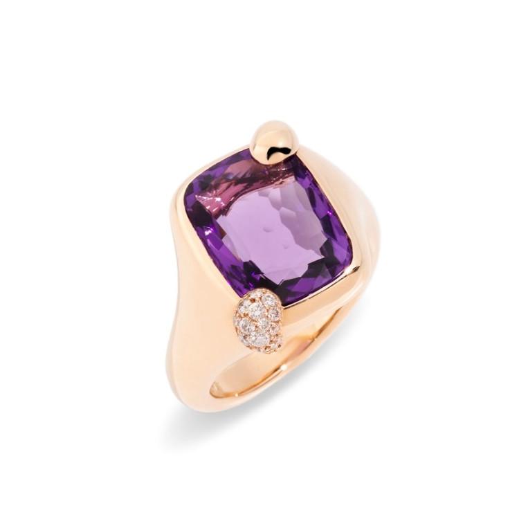 *PRE-ORDER* Pomellato Ritratto 18K Rose Gold Amethyst Small Ring