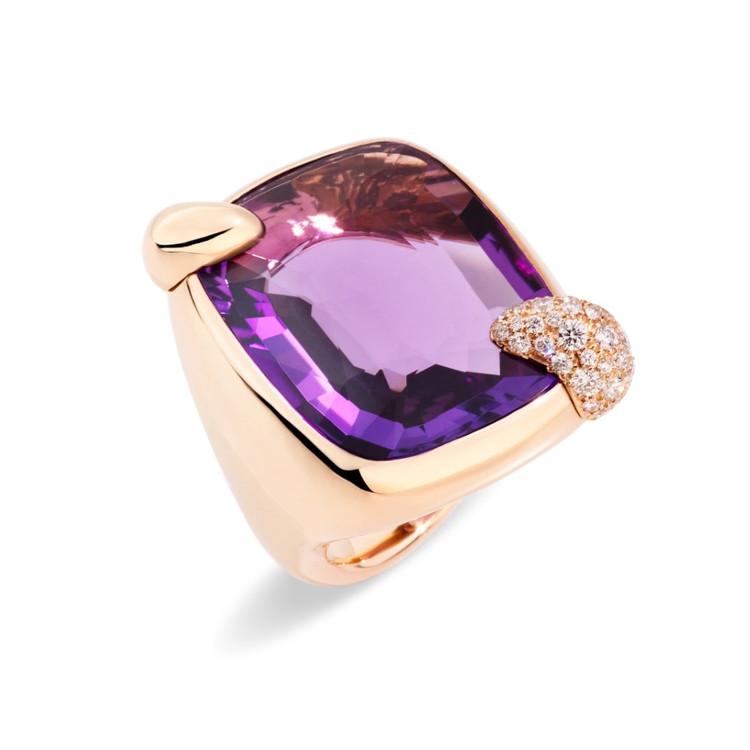 *PRE-ORDER* Pomellato Ritratto 18K Rose Gold Amethyst Ring