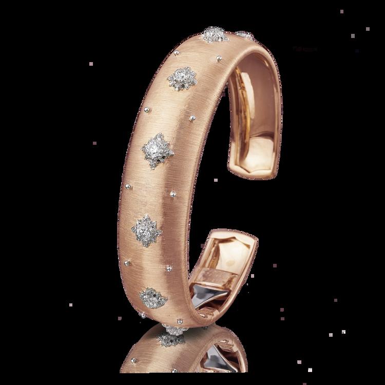 Buccellati Macri Cuff Bracelet in Pink Gold, Size 16