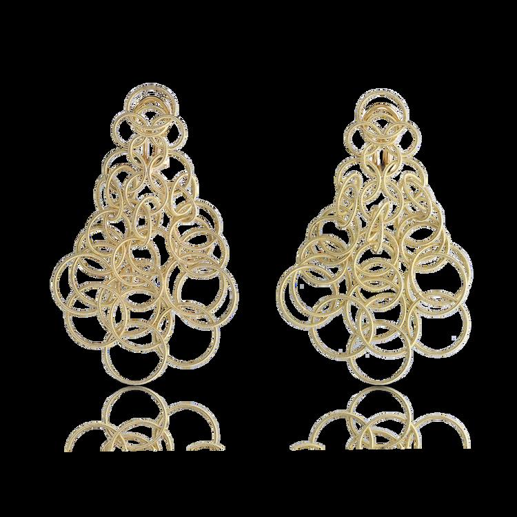 *PRE-ORDER* Buccellati Hawaii Pendant Earrings in Yellow Gold (7CM)