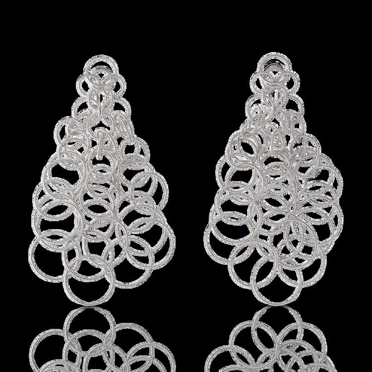 *PRE-ORDER* Buccellati Hawaii Pendant Earrings in White Gold (9.5CM)