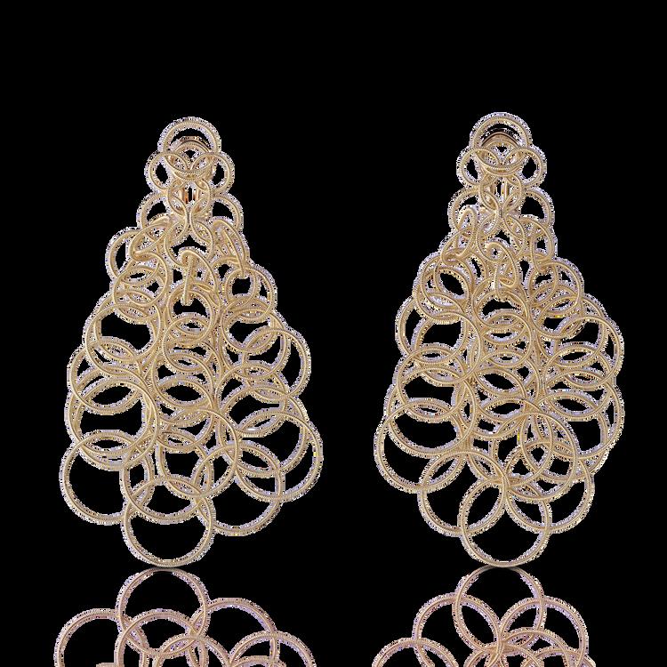 *PRE-ORDER* Buccellati Hawaii Pendant Earrings in Pink Gold (9.5CM)