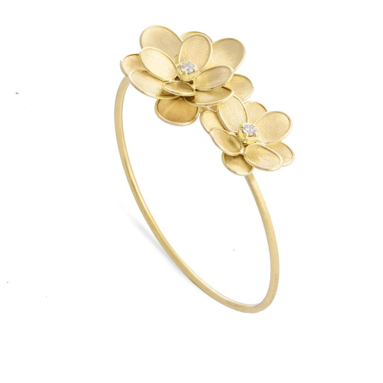 *PRE-ORDER* Marco Bicego Petali 18K Yellow Gold and Diamond Double Flower Bangle