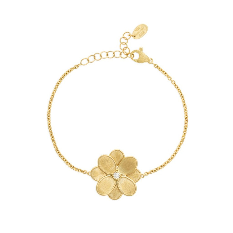 *PRE-ORDER* Marco Bicego Petali 18K Yellow Gold and Diamond Single Flower Bracelet