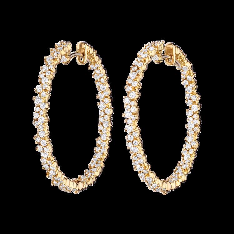*PRE-ORDER* Paul Morelli 18K Yellow Gold Medium Confetti Hoop Earrings