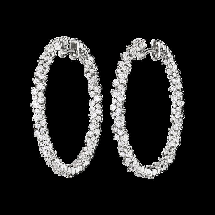 *PRE-ORDER* Paul Morelli 18K White Gold Medium Confetti Hoop Earrings