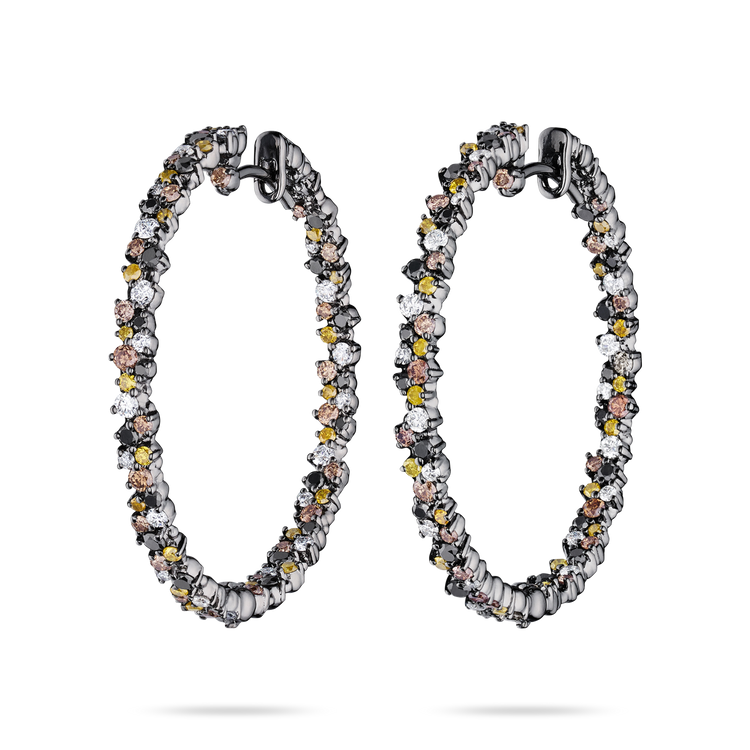 *PRE-ORDER* Paul Morelli 18K Black Gold Medium Confetti Hoop Earrings