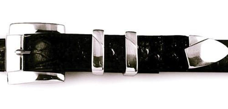 "Jeff Deegan Designs Sterling Silver 4 PC Classic Buckle Set, 1"""