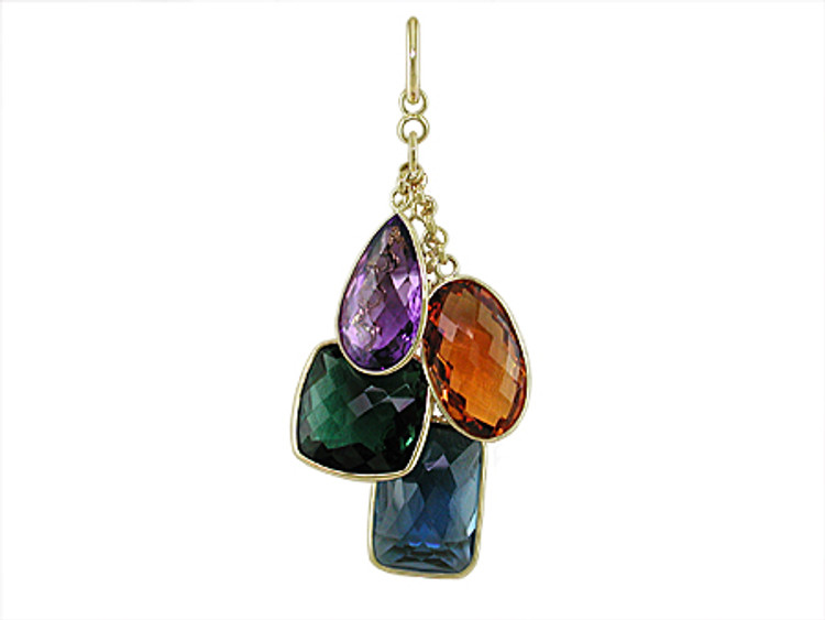 Ruth Taubman Yellow Gold Gemstone pendant