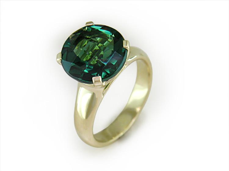 Ruth Taubman 18K Yellow Gold Green Quartz Ring