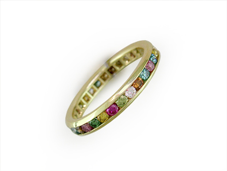Ruth Taubman 18K Yellow Gold Channel Set Eternity Ring