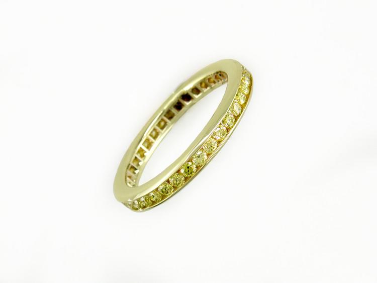 Ruth Taubman 18K Yellow Gold Yellow Diamond Eternity Ring