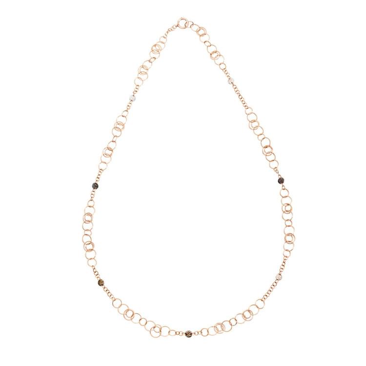 *PRE-ORDER* Pomellato Sabbia 18K Rose Gold Multicolor Diamond Link Sautoir Necklace
