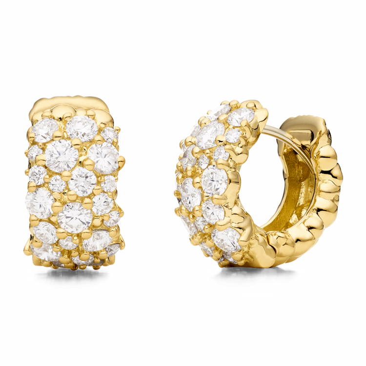 *PRE-ORDER* Paul Morelli 18K Yellow Gold Large Confetti Snap Hoop Earrings with Diamonds