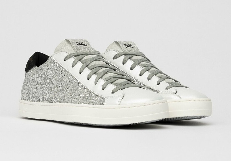 P448 John Ginerva Silver Glitter Sneaker
