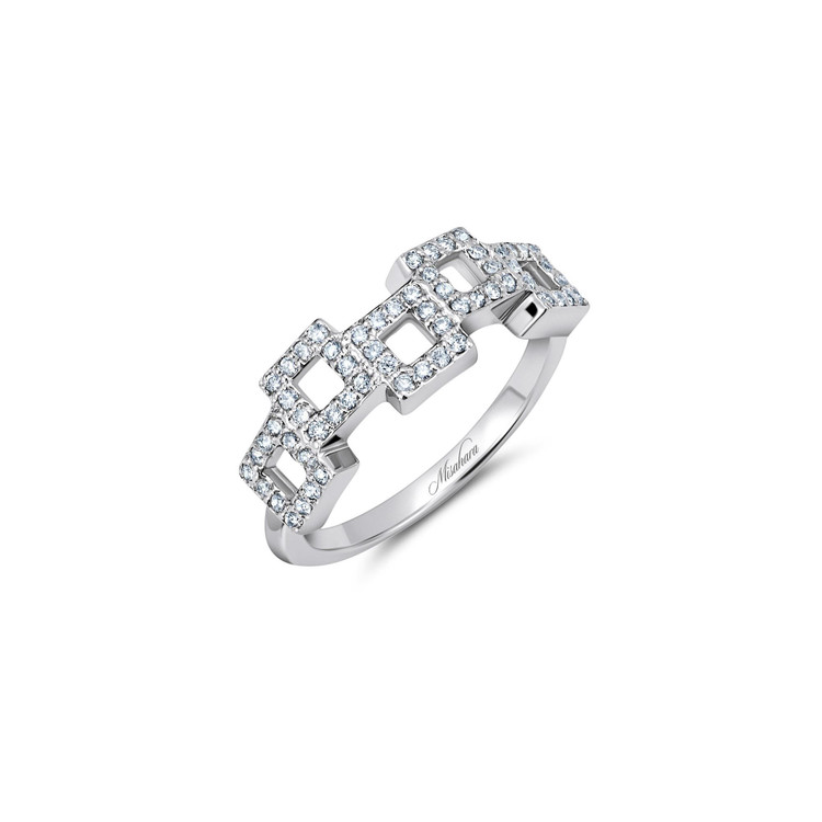 Misahara Frosted Mosaic Ring
