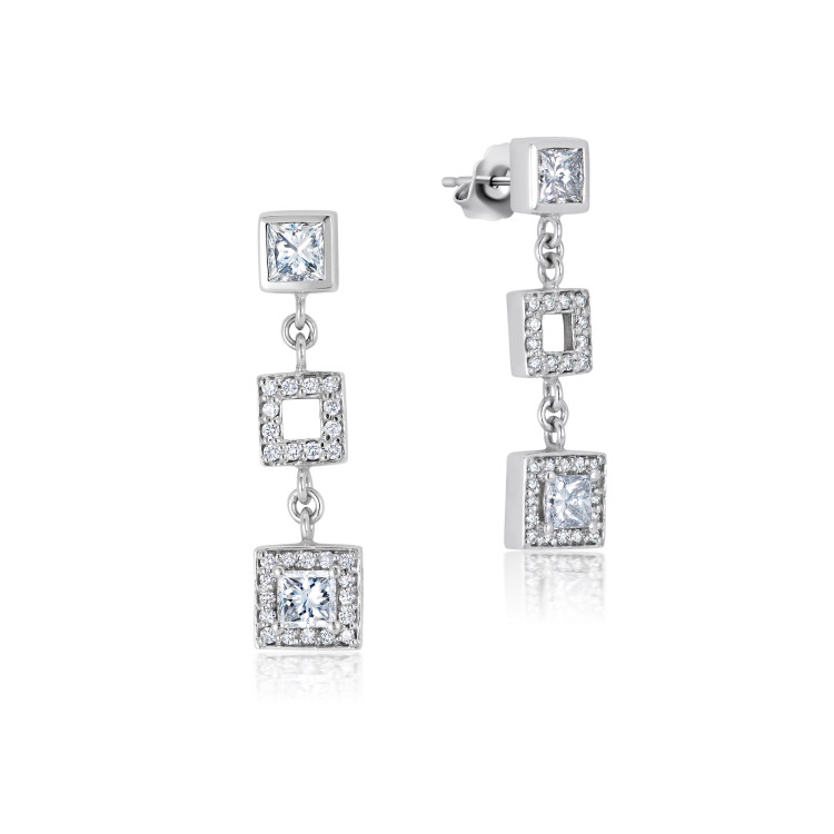 Misahara Frosted Ice Drop Earrings