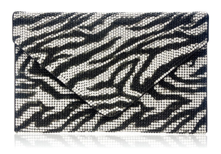 *New Spring  '21 Collection* Judith Leiber Couture Square Envelope Zebra