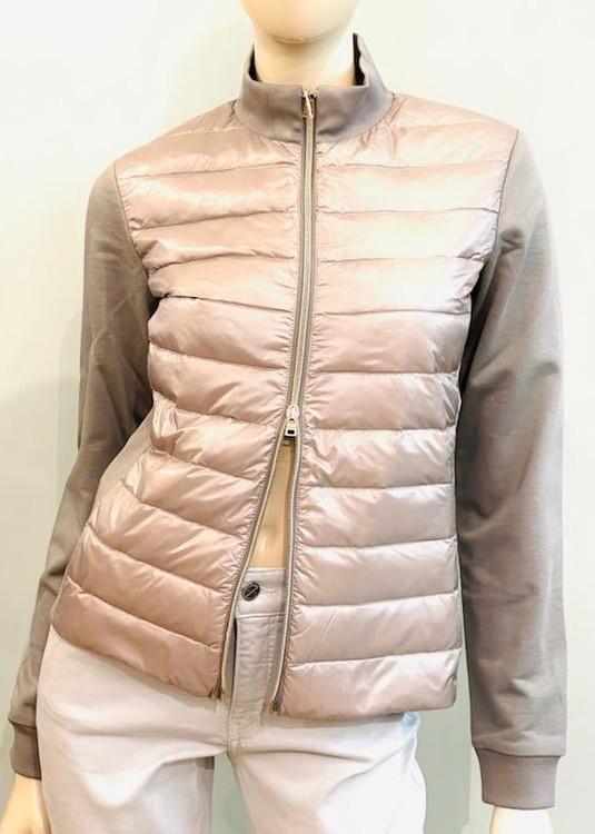 Herno Nylon Ultralight Diagonal Sweater in Grey