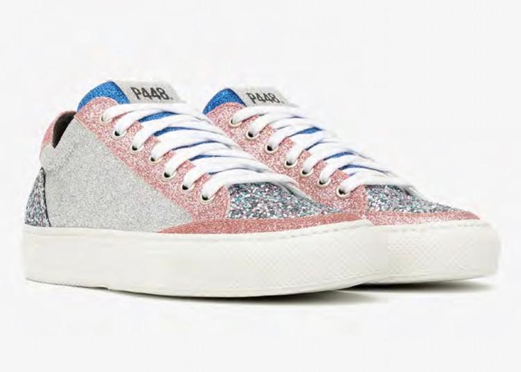 P448 Soho Sneaker in Multi Glitter