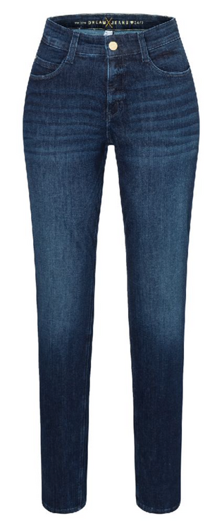 MAC Dream Straight Jeans in Vintage Basic Blue Wash