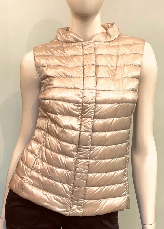 Herno Nylon Ultralight Fitted Waistcoat in Gold