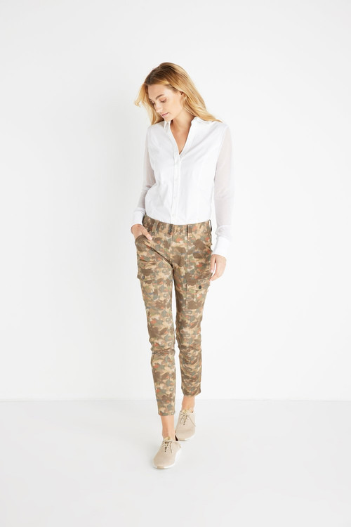 *PRE-ORDER* Anatomie Camo Cool Karo Stretch Cargo Pants in Painted Camo