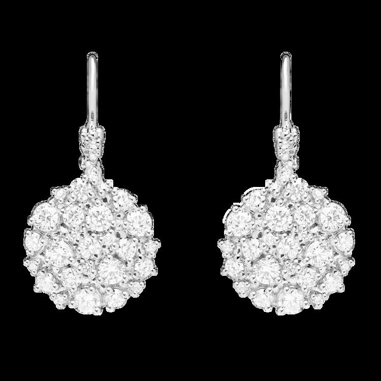 Paul Morelli 18K White Gold Confetti Circle Dangle Earrings