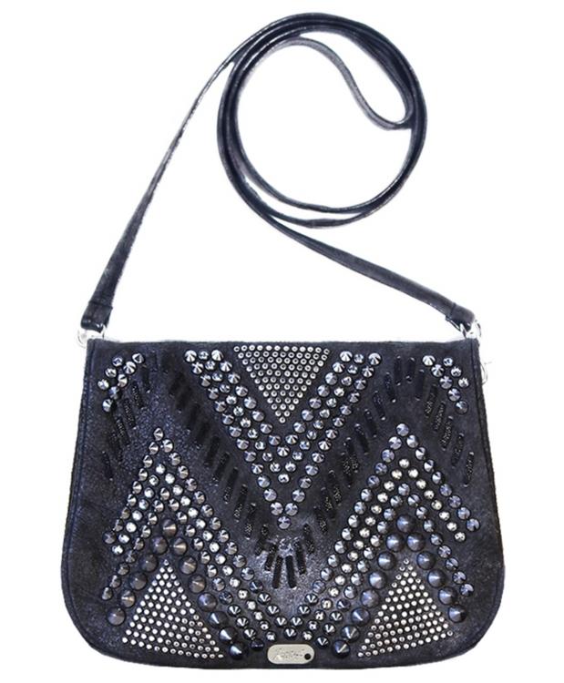 *PRE-ORDER* Kippy's Embellished and Studded Vision Quest Leather Shoulder Bag