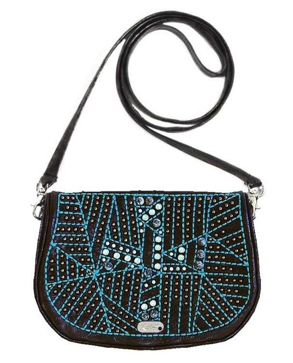 *PRE-ORDER* Kippy's Embellished and Embroidered Crucifera Leather Shoulder Bag