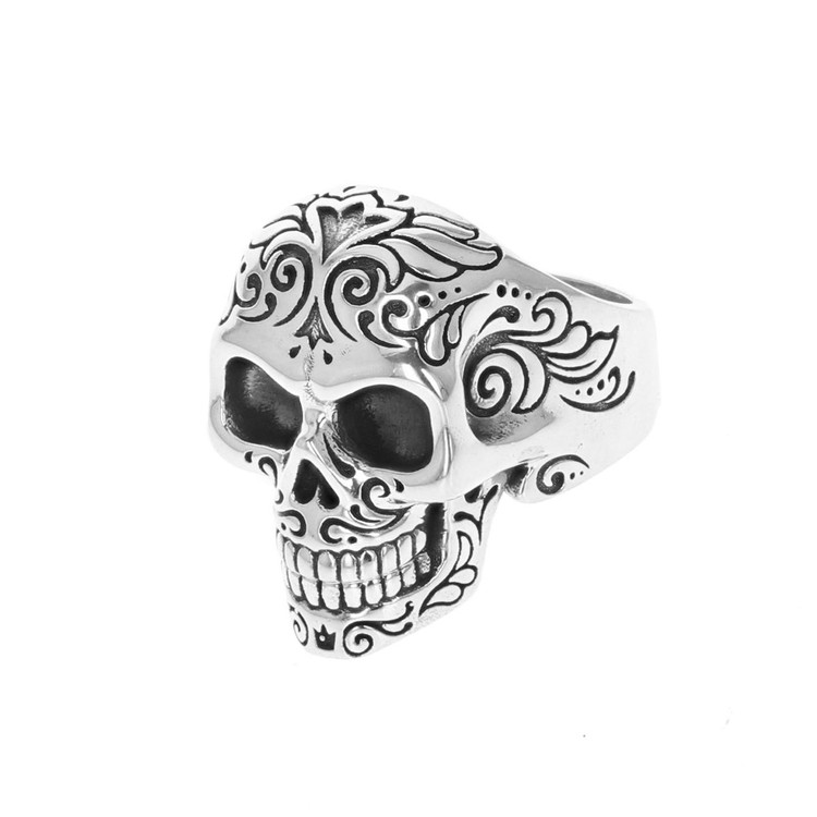 *COMING SOON* King Baby Studio Men's Laughing Skull Ring with Moveable Jaw, Size 12