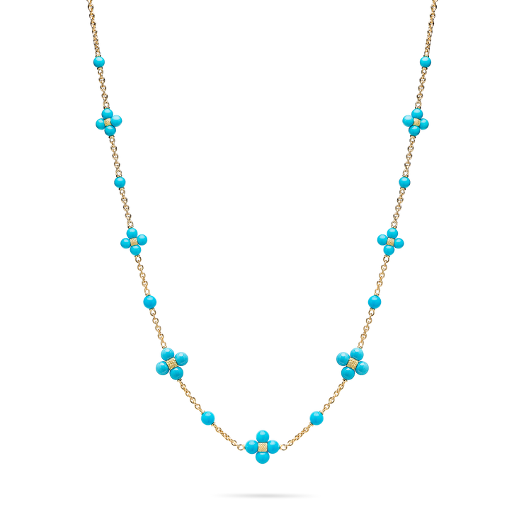 *PRE-ORDER* Paul Morelli 18K Yellow Gold Turquoise Sequence Necklace