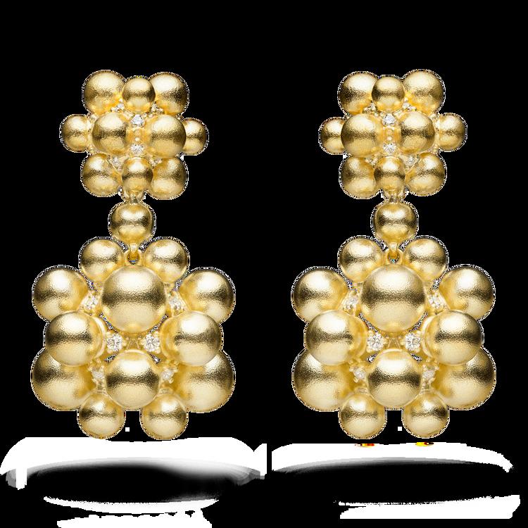 *PRE-ORDER* Paul Morelli 18K Yellow Gold Golden Orbit Dangle Earrings