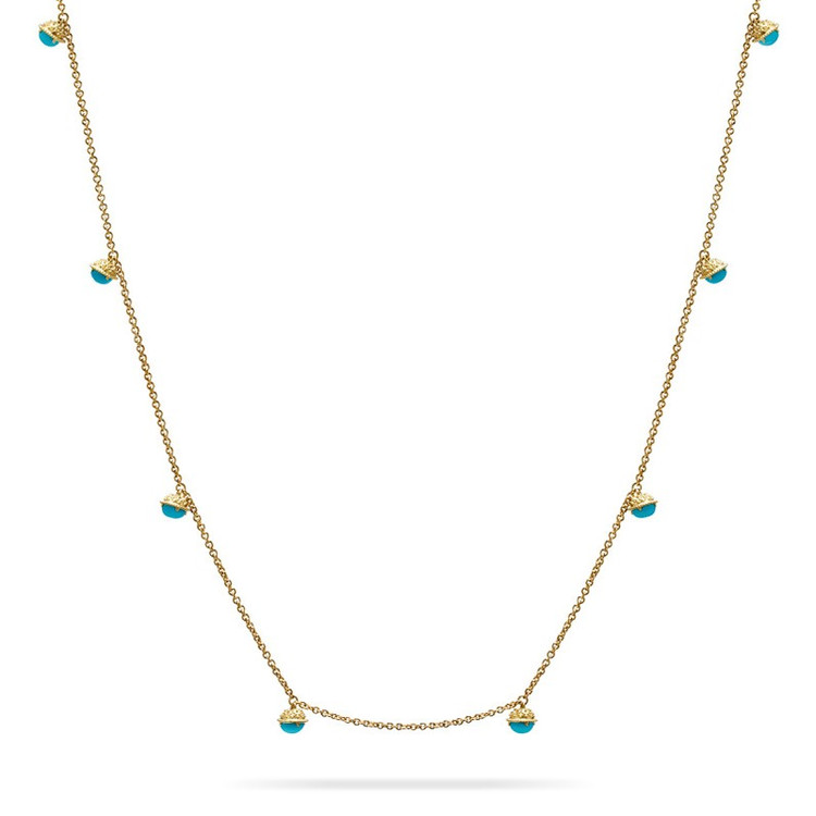 """Paul Morelli Turquoise Meditation Bell Necklace, 20"""""""
