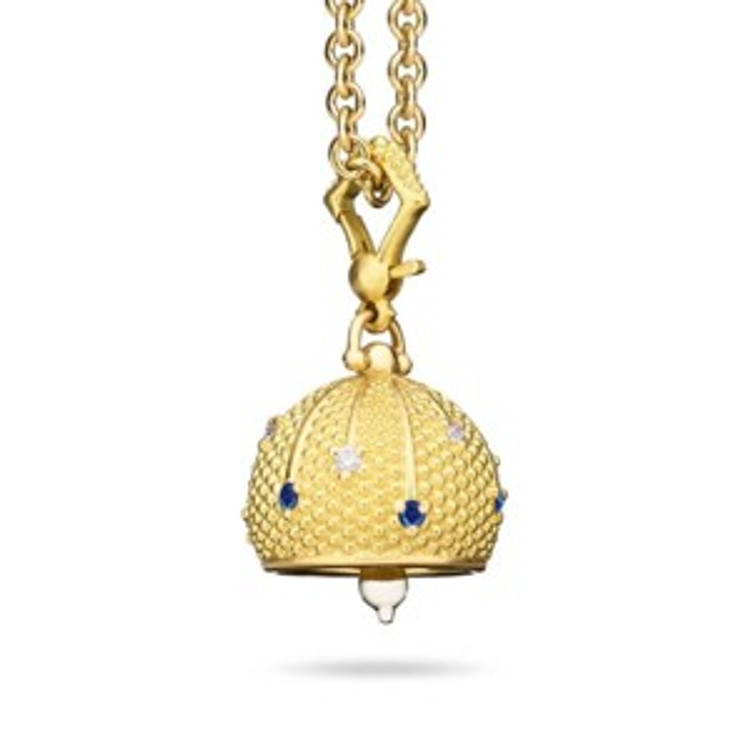 *COMING SOON* Paul Morelli Sequence Diamond Meditation Bell with Blue Sapphires, 14mm