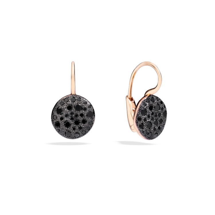 *PRE-ORDER* Pomellato Sabbia 18K Rose Gold Black Diamond Earrings